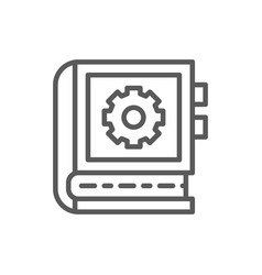 Engineering instruction book line icon vector