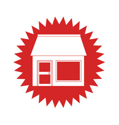 Exterior store building icon vector