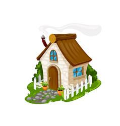 fairytale cartoon stone house dwelling vector image