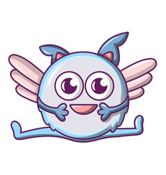 flying monster icon cartoon style vector image