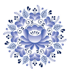 folk art floral pattern russian design inspired vector image