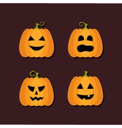 Four Halloween flat icons vector