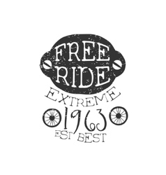 Freeride Extreme Vintage Label vector image