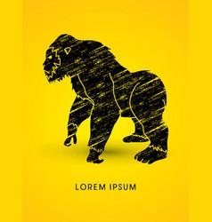 Gorilla standing vector