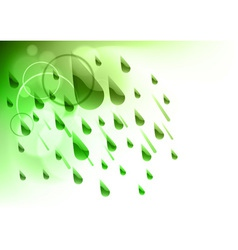 green rain vector image