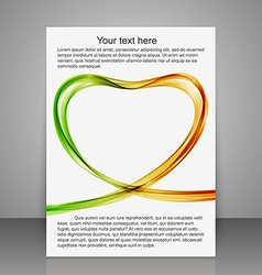 Greeting brochures abstract heart of the colorfull vector