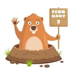 Groundhog Day celebratory background vector image