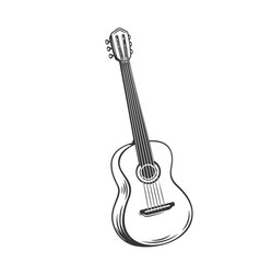Guitar outline icon vector
