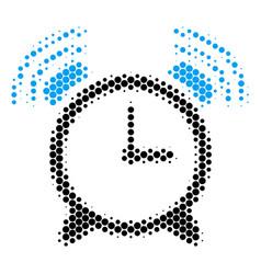 Halftone dot buzzer icon vector