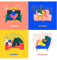 home rest 2x2 concept vector image