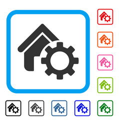 Homepage options gear framed icon vector