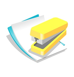 Icon paper and stapler vector