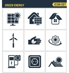 Icons set premium quality of eco friendly green vector
