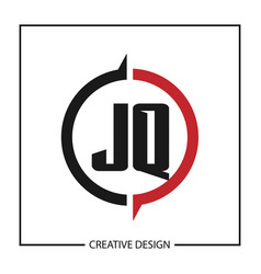 Initial letter jq logo template design vector