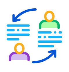 Knowledge sharing icon outline vector