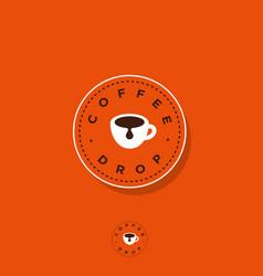 Logo coffee drop cafe cup icon vector