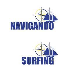 logo for the sailboat vector image