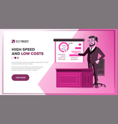 main web page design business style vector image