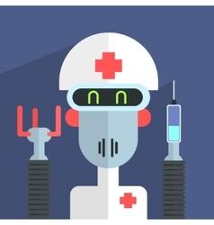 Medic Robot Character vector