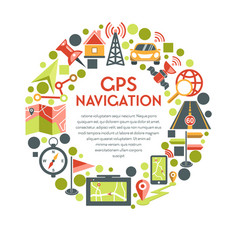 navigation and gps system maps isolated icon or vector image