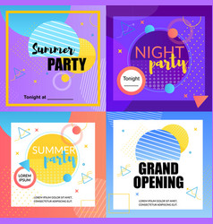 Night party summer party grand opening disco bar vector