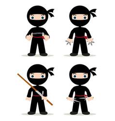ninja set vector image