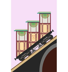 old vintage funicular vector image