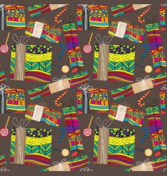 original gift christmas boxes seamless pattern vector image
