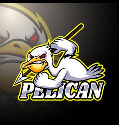 Pelican esport logo mascot design vector