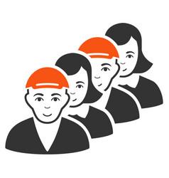 People queue icon vector