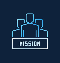 People with mission bright colored line vector
