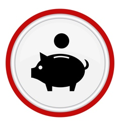 piggy money bank icon vector image