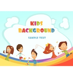 Playing Kids Background vector