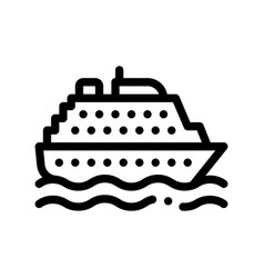 public transport ferry thin line sign icon vector image