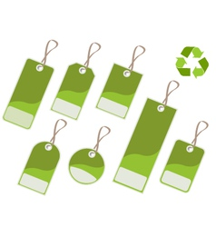 recycle tags vector image