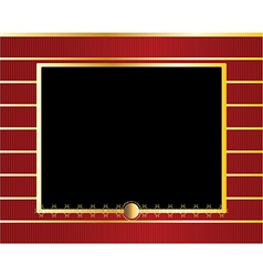 Red gold black frame background vector image