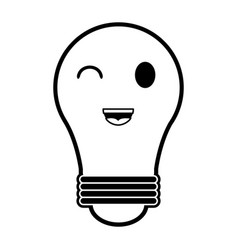 Regular lightbulb kawaii style icon image vector