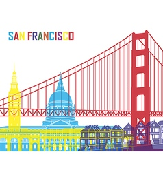 San Francisco skyline pop vector