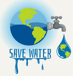 save world icon vector image
