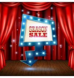 Season Sale Light Banner vector image