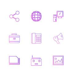 Share speaker telephone image breifcase vector