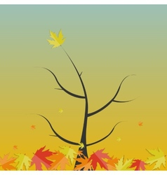 Shiny Autumn Natural Tree Background vector image