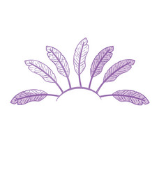 silhouette beauty diadem of feathers design vector image
