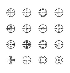 simple icon set aim and target for shooting on vector image