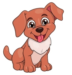 Smiling little puppy 2 vector image