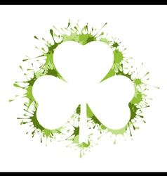 St Patrick Day frame vector image