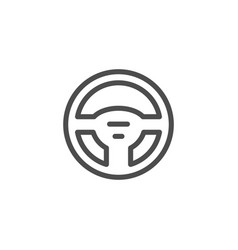 steering wheel line icon vector image