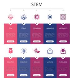 Stem infographic 10 steps ui designscience vector