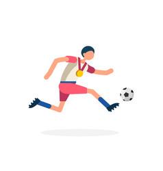striker footballer symbol football icon vector image