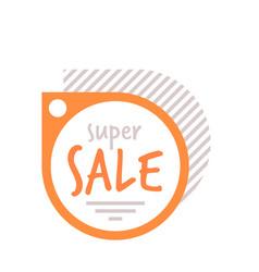 Super sale sticker coronavirus quarantine is over vector